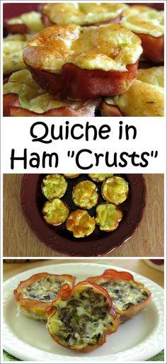 Quiche in Ham Cups or Crusts