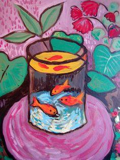 Matisse's Goldfish with Marquin Henri Matisse, Matisse Kunst, Matisse Art, Art Inspo, Kunst Inspo, Painting Inspiration, Matisse Paintings, Kunst Poster, 3rd Grade Art