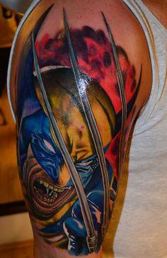 #wolverine #marvel #wolverinetattoo #colour #colourtattoo #tattoo #marveltattoo #renegadetattoo #budapest #ink