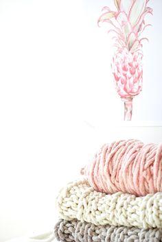 Wolle - Big Loop Garn Loopy Mango Wollweiß Ivory - ein Designerstück von lebenslustiger-com bei DaWanda