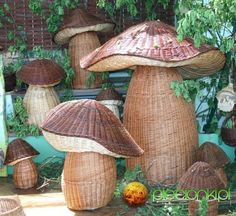 setas de papel de periodico  -  mushrooms newspaper paper