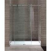 Found it at Wayfair - 60'' Glass Sliding Door Shower Enclosure