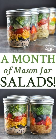 A Month of Mason Jar Salads! paleo breakfast meal prep