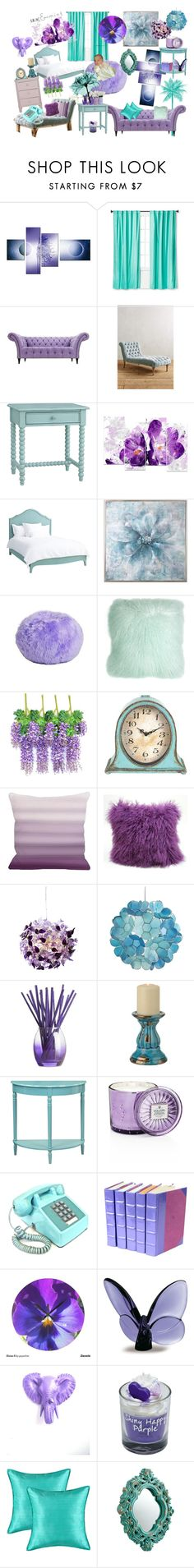 """""""Lilac & Mint Home"""" by dream82 ❤ liked on Polyvore featuring interior, interiors, interior design, home, home decor, interior decorating, Pillowfort, Anthropologie, Redford House and Uttermost"""