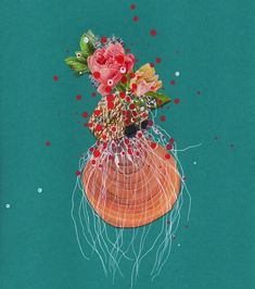 Jenny Brown's Gorgeous Collages of Flower-Included Sea Creatures