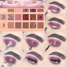 Huda Beauty New Nude Palette tutorial – Amber Cotrone Makeup 101, Makeup Goals, Face Makeup, Makeup Ideas, Cheap Makeup, Simple Makeup, Makeup Brushes, 80s Makeup, Witch Makeup