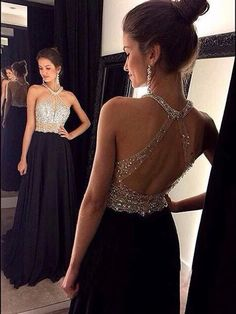 A-line+Scoop+Floor-length+Chiffon+Prom+Dresses/Evening+Dresses+#SP7217