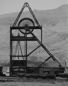 Winding Tower: Glenrhondda Colliery. Treherbert, South Wales GB, 1966 Hilla Becher, Visit Wales, Industrial Architecture, Industrial Photography, Building Art, Coal Mining, New Energy, British History, South Wales