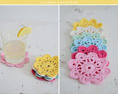 Free Pattern: Flower Coaster The Yvestown Shop
