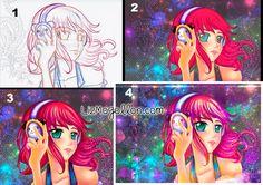 #Digital# painting #tutorial #Photoshop #Sai #drawing #illustation #dibujo #manga #anime lizmogollon.com Manga Anime, Pop Art, Photoshop, Digital, Drawings, Painting, Collection, Dibujo, Painting Art