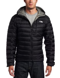 LOVE this jacket. Ultralight down, super light and highly foldable plus you can easily be found by helicopters. Love it - get it. [Note - when clicking the image, make sure you move off the default 'orange' version and pick the black one from the image gallery]