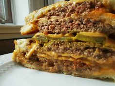 My Grilled Cheese Burger Burger Grilled Cheese Burger. No, that's not a typo, that's just how big this burger is! :) #hamburger #recipe #foodporn #omg #delicious