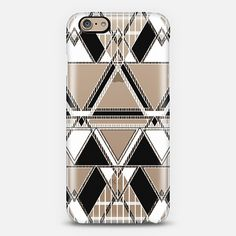 Black and White Linear Tribal iPhone 6 Case by Organic Saturation | Casetify. Get $10 off using code: 53ZPEA