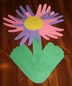Hand and Footprint Flower Craft