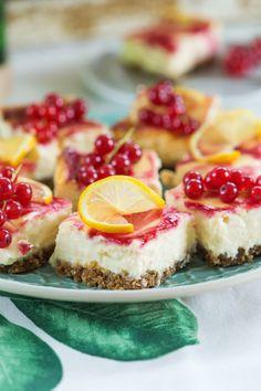 Frissítő ribizlis citromos sajttorta   Street Kitchen Healthy Snacks, Healthy Recipes, Cheesecake, Deserts, Food And Drink, Sweets, Cookies, Baking, Finger