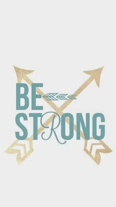 Teal Be strong gold arrows iphone phone wallpaper background