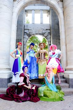 My Little Pony cosplay-I don't care for my little pony, but something needs to be said for his lovely these gowns are.