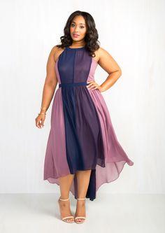 ModCloth - East Concept Fashion Ltd Peachy Queen Dress in Berry - Fashion Plus Size Dresses, Plus Size Outfits, Cute Dresses, Dress Plus Size, Ladies Dresses, Going Out Dresses, Casual Dresses For Women, Plus Size Fashion For Women, Plus Size Women