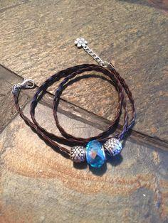 Three Loops Handmade cord bracelet by designbyafney on Etsy