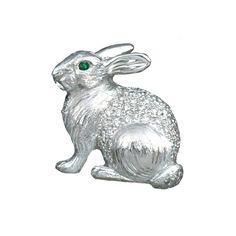Platinum Rabbit Pin