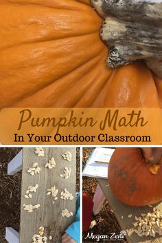 Take the pumpkin mess outdoors, while learning lots of Pumpkin Math this Halloween season! Includes a free printable for your garden journal! Outdoor Education, Outdoor Learning, Fun Learning, Math Education, Activities For Boys, Autumn Activities, Math Activities, Outdoor School, Outdoor Classroom