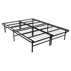 Sturdy and well designed, the Sleep Revolution's Deluxe Platform Bed Frame is a complete mattress foundation solution. This strong metal bed frame eliminates the need for a box spring and frame and the clever and convenient design and construction allows for easy set-up with no tools required.  Reinforced edges make this frame extra sturdy and offers great support. A unique locking t-shape system adds extra stability and safety. And as an added bonus, the leg positioning and height of thi...
