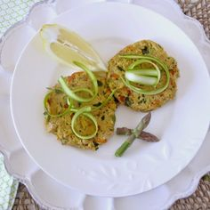 Simply Healthy Family: Tuna and White Bean Cakes with Shaved Spring Asparagus and a Light, Lemon Tarragon Sauce {gluten free}