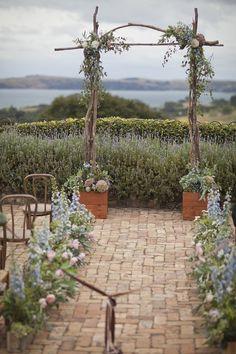 Elegant Wildflower Wedding Ceremony   Waiheke Island Wedding - I Do Photography