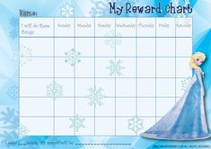 Disney Behavior Charts | Frozen behaviour chart-01 was last modified: July 17th, 2014 by Sarah ...