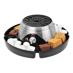 Kalorik Smores Maker - set this handy dandy S'mores maker on your patio or deck and make the delicious treat in seconds.  Great for parties and everyone can make their own whenever they want.  Kids would love this too!!! Great bridal or wedding shower gift idea!