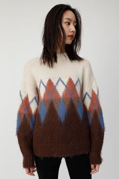 Search results for: 'clothing zigzag-knit-tops' Knitwear Fashion, Knit Fashion, Chunky Knitwear, Sweater Design, Pullover Sweaters, Argyle Sweaters, Women Wear, Vest, Knitting