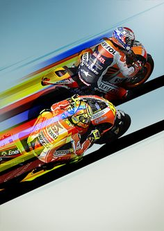 MotoGP poster concept by Niels Nolta, via Behance Motorcycle Posters, Bike Art, Motorcycle Bike, Speed Bike, Garage Art, Mountain Dew, Valentino Rossi, Automotive Art, Cool Posters