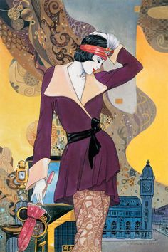 The illustrations of Helena Lam are inspired by the Art Deco period Art Deco Illustration, Illustrations, Art Vintage, Moda Vintage, Vintage Posters, Art Deco Stil, Art Deco Era, Art Nouveau, Moda Art Deco