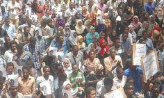 مظاهرات ضد مقتل طالب جامعي