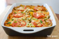 Creamy Vegetable Pasta Bake great for baby and family. Could also add chicken for more protein and iron.