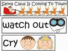 Free: Santa Claus Is Coming To Town Word Wall.  For Educational Purposes Only...Not For Profit. Enjoy! Regina Davis aka Queen Chaos at Fairy Tales And Fiction By 2.