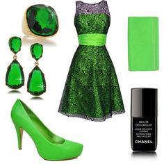 Lime Green for Prom, created by stephanie-cardwell on Polyvore