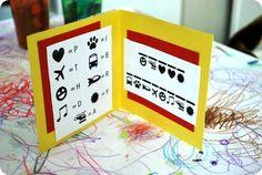 Secret code birthday card, cute idea for a kid