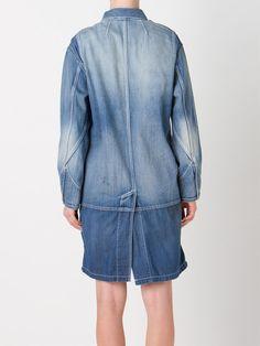 Mihara Yasuhiro Джинсовое Пальто - Restir - Farfetch.com