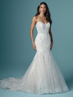 Happiness comes in many forms, including glitter tulle, textured lace, illusion details, and any combination thereof in a classic mermaid wedding dress. Size 12 Wedding Dress, Dream Wedding Dresses, Designer Wedding Dresses, Bridal Dresses, Wedding Gowns, Lace Wedding, Modest Wedding, Wedding Outfits, Dresses Dresses