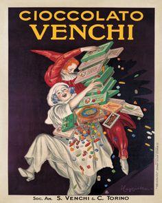 Manifesto del Cioccolato Venchi, realizzato da Leonetto Cappiello. Fonte: Venchi S.p.A., Castelletto Stura (CN).
