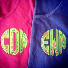 monogram lilly tanks