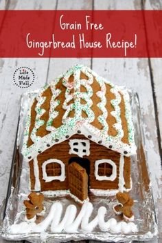 How AWESOME IS THIS!?!? If you have srious allergies that make gluten or grains a non-no, you can STILL make a Gingerbread House! Or if you're grain-free and simply want to eat your house later :-) One of the awesome Features from Allergy-Free Wednesday - Go visit Life Made Full!