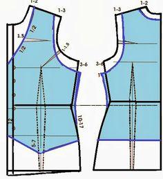 Cómo hacer un chaleco a partir del básico de blusa.  www.elcosturerodestellablog.com