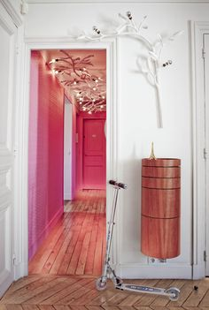 Love those lights for a hallway ceiling! So fun!