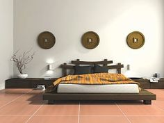 Thursday Inspiration Pin Day! A relaxing and harmonious bedroom greets you after the end of a long day. Distress!