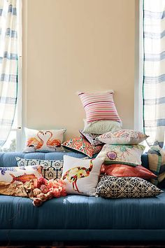 Collaged Fauna Pillow - anthropologie.com #anthropologie #AnthroFave