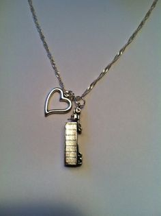 Sterling Silver Necklace, Love my Trucker Necklace, Truck Necklace, Ready to ship
