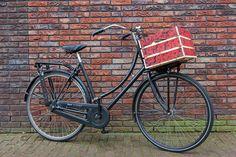 Prachtig rozen krat, wie wil dat niet op zijn fiets! kijk op http://www.leukkratje.nl/kant-en-klare-kratjes/bloemen/fietskratje-rode-rozen.html