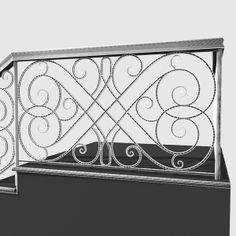 maya wrought iron stair railing - Wrought Iron Stair Railing 3... by despecher. In balck